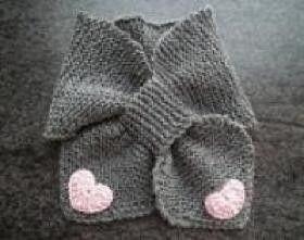 Hand knit kids neckwarmer www.nanokidsco.com