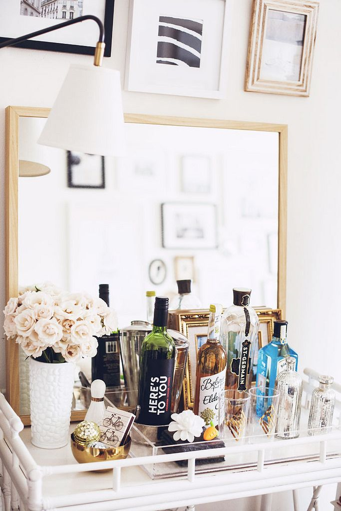 Worth bar cart styling | Alaina Kaczmarski's Lincoln Park Apartment Tour