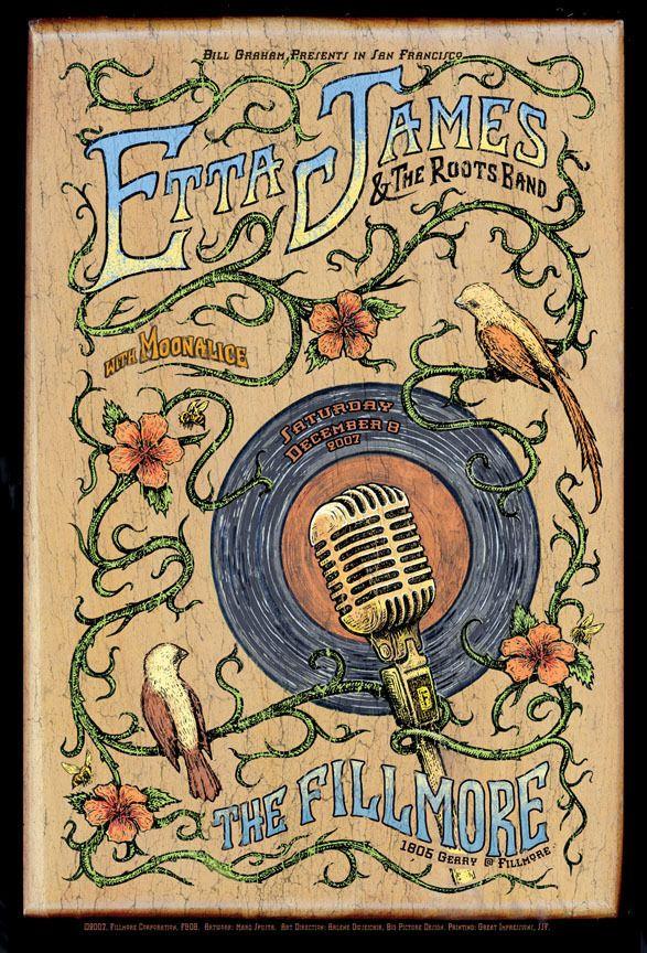 Etta James | Fillmore SF | Art by  Marq Spusta - Original 2007 Concert Poster