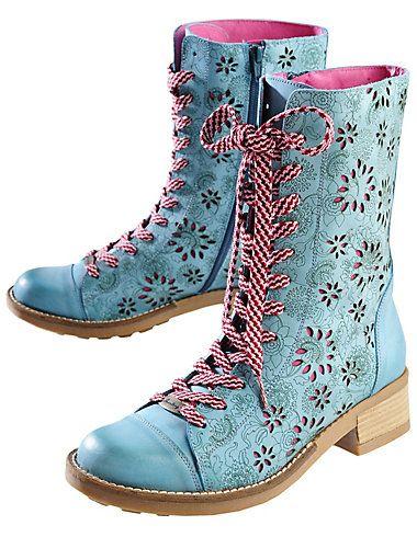 Deerberg Semira, pigeon blue - Knee-high Boots - Deerberg