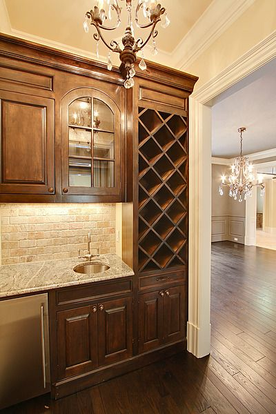 Nice Bar Area {like The Tall Wine Storage} For The Basement