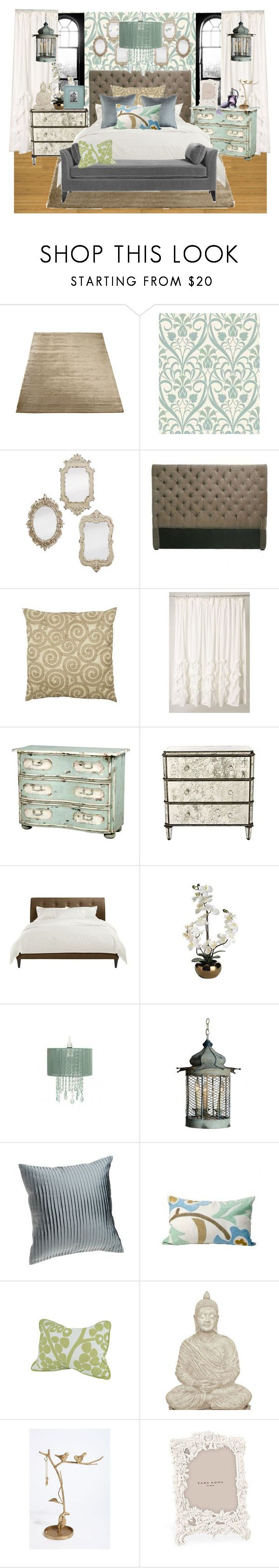 """""""Antique Bedroom"""" by kiley1 ❤ liked on Polyvore featuring interior, interiors, interior design, home, home decor, interior decorating, CO, CHESTERFIELD, Anthropologie and Pier 1 Imports"""