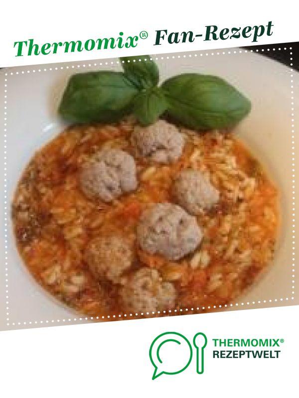 Tomaten-Reis-Eintopf mit Hackfleischklößchen von R. Cipra. Ein Thermomix ® Re...