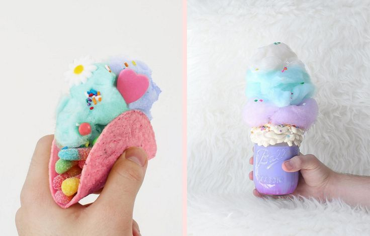 Unicorn poop and candy floss tacos are absolutely magical