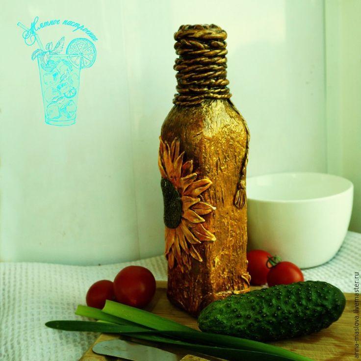Декорирование бутылки для оливкового масла - Ярмарка Мастеров - ручная работа…