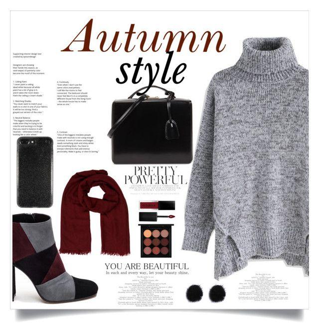 """Autumn!🍁❤"" by xanniee on Polyvore featuring Chicwish, Roberto Festa, Mark Cross, Hermès, Smashbox and MAC Cosmetics"