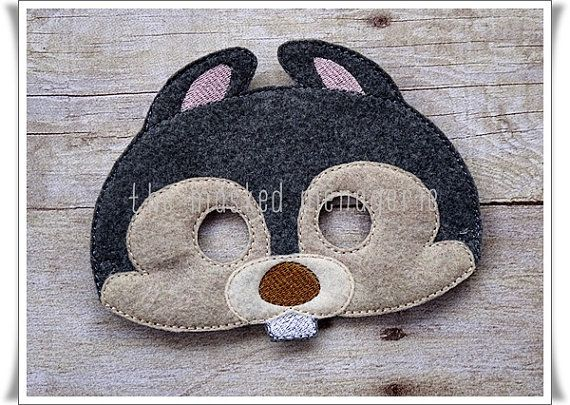Squirrel Mask, Woodland Creatures Masks, Felt Masks, Pretend Play, Creative Play Masks