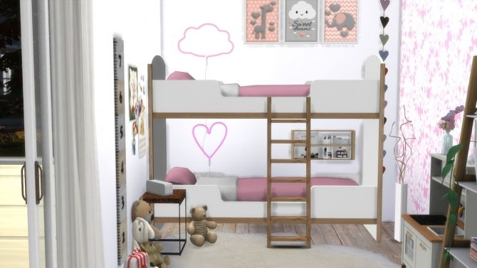 Twin Room Newport At Modelsims4 Sims 4 Sims Bett