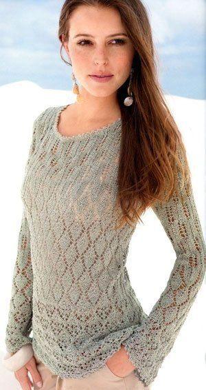 [club60393515|Нежный ажурный пуловер]<br>#Пуловеры@v.k.uyutnoyevyazaniye