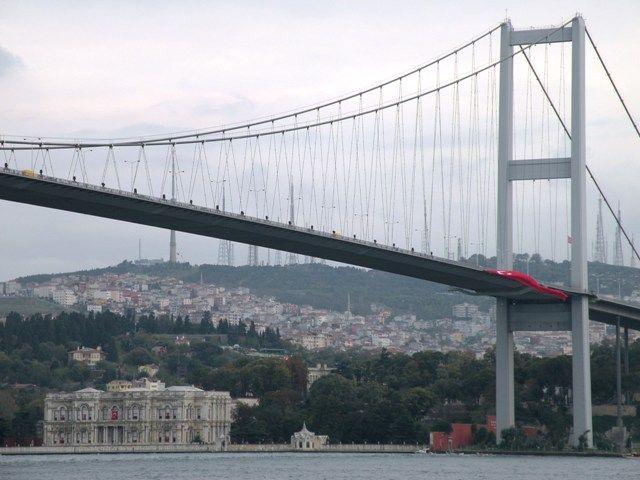 Huge bridge over the Bosphorus - Istanbul, Turkey