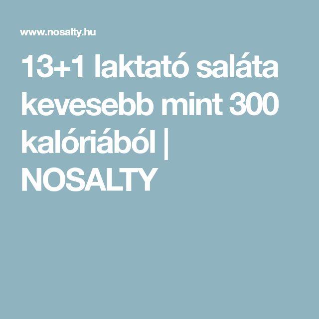 13+1 laktató saláta kevesebb mint 300 kalóriából   NOSALTY