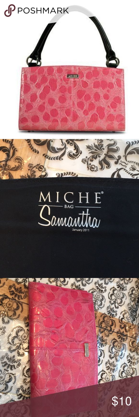MICHE - Samantha Classic Shell - Retired 2011 Pretty bubble gum color. See imperfections last pic otherwise shell in good condition. Miche Bags