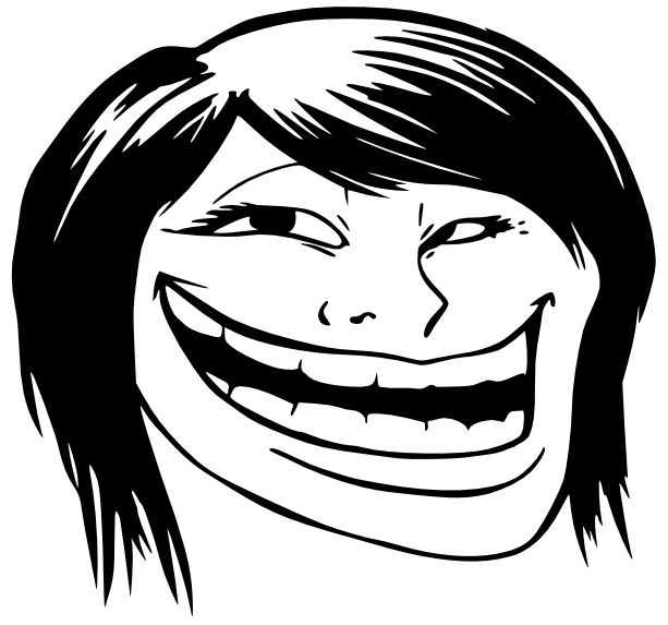 troll face pics | troll face female this decal is the ...