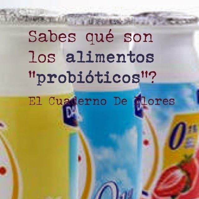 El Cuaderno de Flores-farmacia, nutrición y vida sana: ¿Sabes que son los alimentos probióticos?