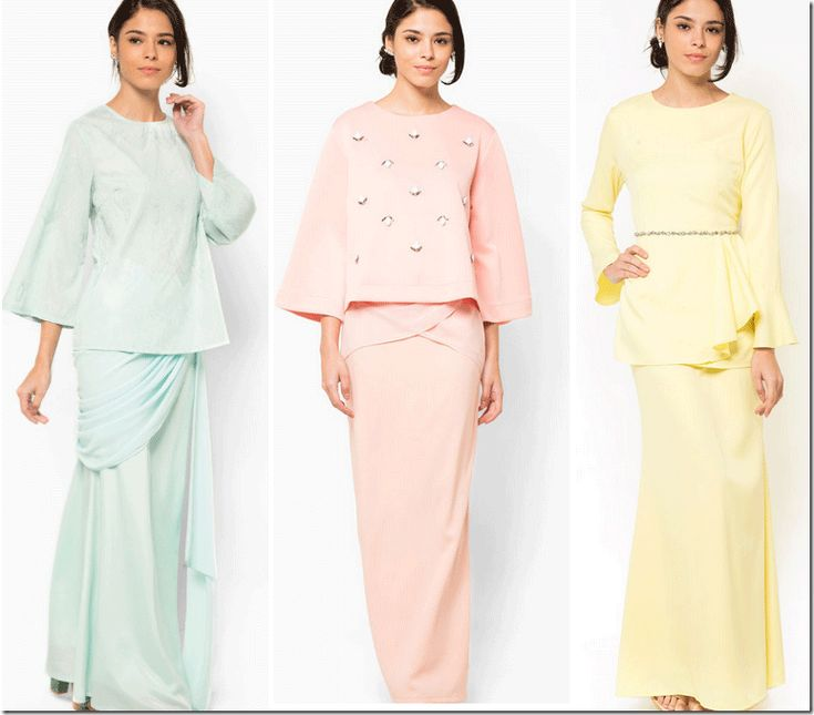 pastel modern baju kurung for Eid/Raya 2015 <3