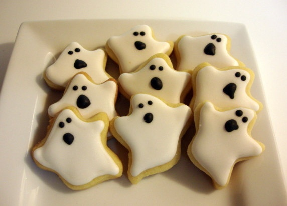 Ghost sugar cookies!!