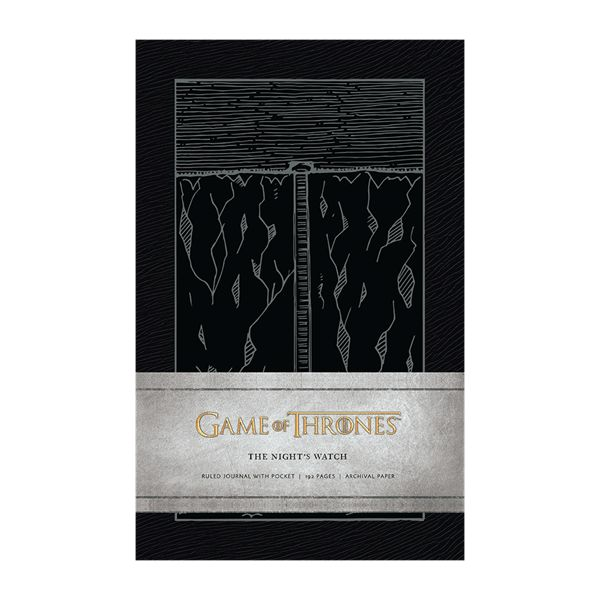 """The only line of defense for the northern border of the Seven Kingdoms, the Night's Watch protects Westeros from wildlings, White Walkers, and other threats from the land beyond the Wall. Known as """"crows"""" for their all-black attire, the sworn brothers of the Night's Watch are absolved from all past crimes when they take their oath, although they must renounce family, land ownership, and birthright.  Product Details:   Pages:192 ruled pag..."""