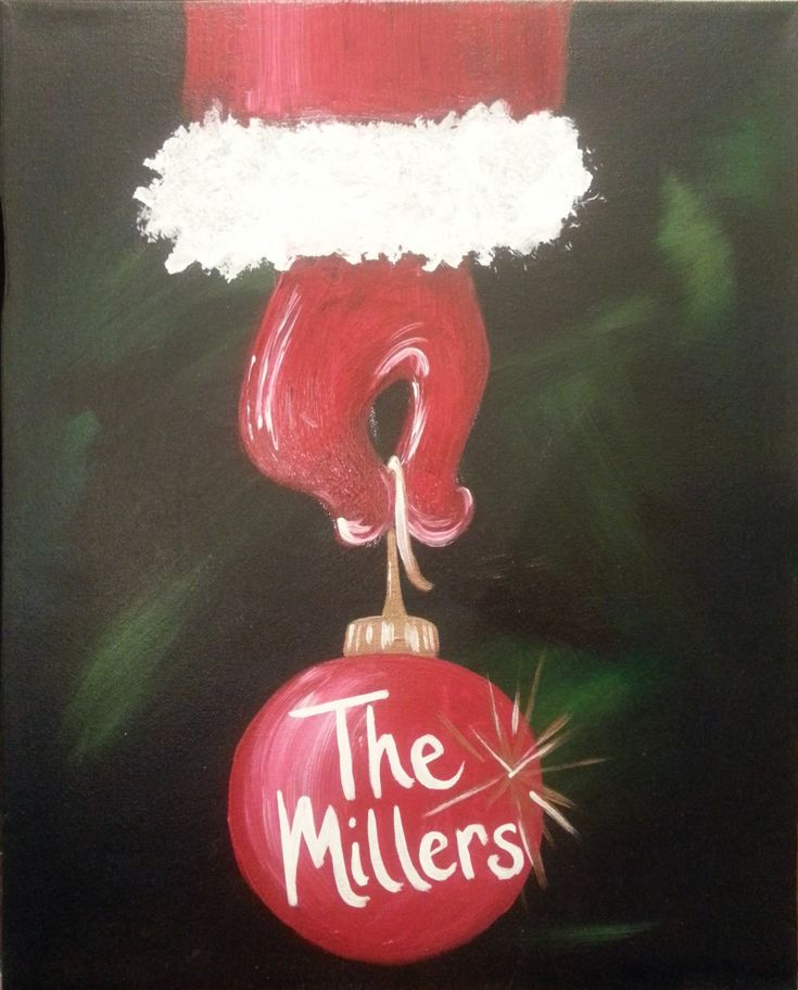 25 best ideas about christmas canvas on pinterest for Christmas canvas painting ideas