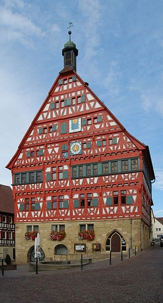 The town hall of Großbottwar, a town in the Ludwigsburg district of Baden-Württemberg, Germany.