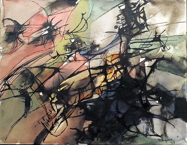 artnet Galleries: Untitled by Jean Paul Riopelle from Galerie Valentin