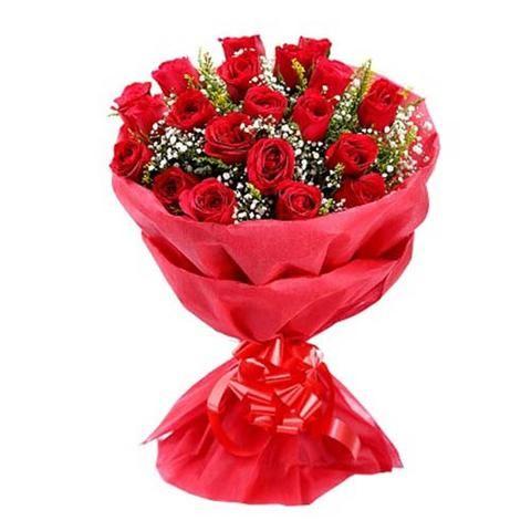 Cute Love Red Rose Bouquet