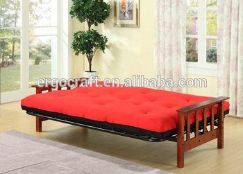 Modern Design Wood Arm Cheap Futon Sofa Bed