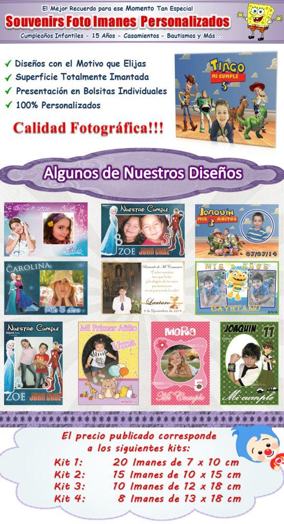 20 Foto Imanes Personalizados Souvenirs -calidad Fotografica - $ 290,00 en Mercado Libre