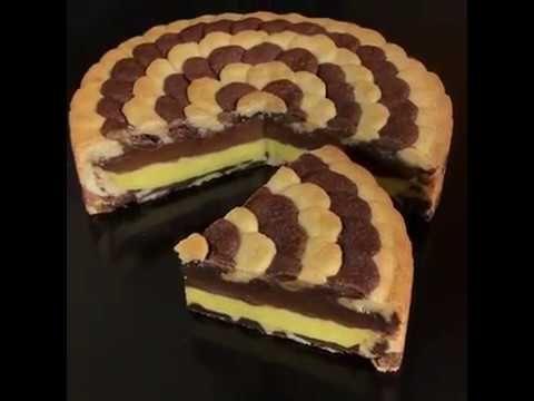 Torta Petalosa con doppia crema pasticciera [ricetta facile by al.ta.cucina] - YouTube