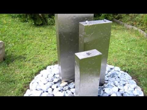 Luxury Gartenbrunnen Edelstahl Bochum YouTube
