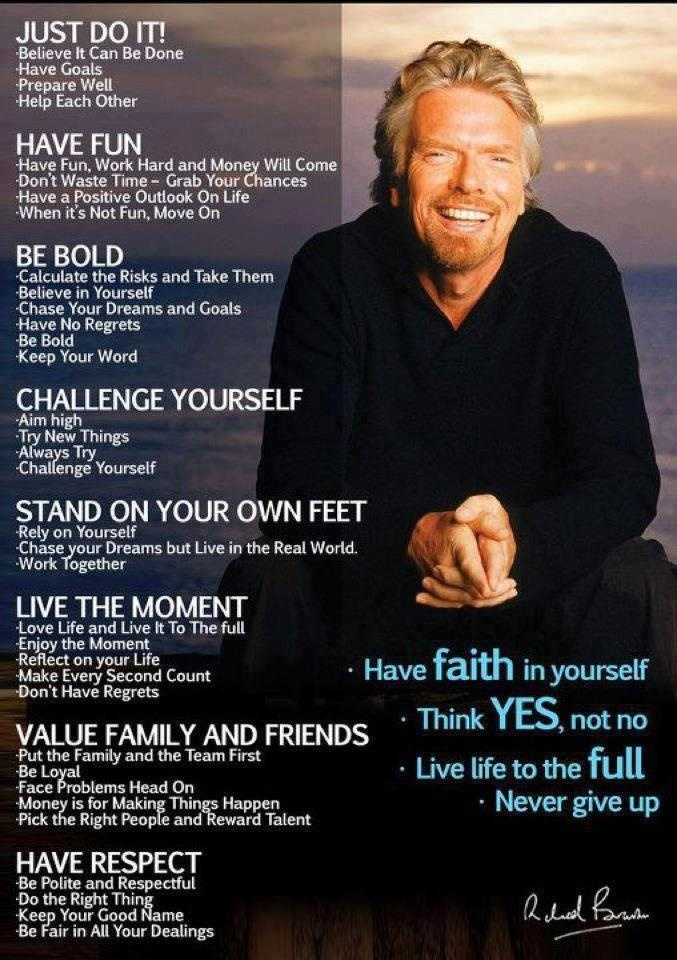 Richard Branson                                                                                                                                                                                 More