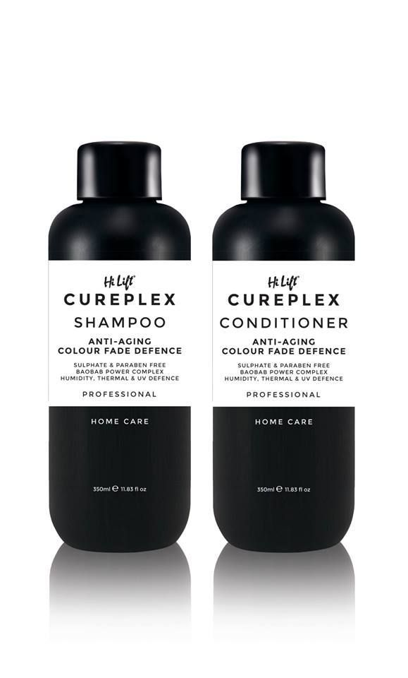 Hi Lift Cureplex Shampoo and Conditioner contains Baobab power complex - the superfood for hair, which will deliver a brilliant shine. High in vitamins B1, B2 and C concentrates, it provides the necessary maintenance for healthy scalp and hair. Silk amino acids assist with damage recovery caused by colouring and heat styling, hydrating the hair from root to end. The antioxidants help to shield from UV damage and prevent colour fade.
