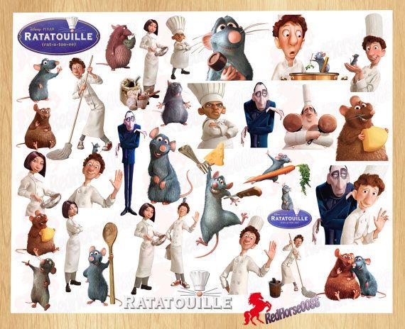 32 Disney Pixar RATATOUILLE Character PNG Images by RedHorse0088