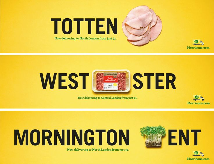 Read more: https://www.luerzersarchive.com/en/print-ad-of-the-week/2014-41.html Print Ad of the Week This London-based campaign for Morrisons supermarket supports the launch of the Morrisons.com home delivery service available for Londoners. The puns make reference to well-known London neighbourhoods. Tags: Patrice De Villiers,DLKW Lowe, London,Ben McCarthy,Seb Housden,Morrisons,Ryan Self,Tom Hudson,Richard Denney