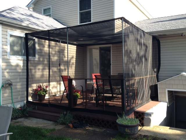 I will be doing this here in Hawaii to keep those flies away!  Deck Insect Screens | Deck Privacy Screens