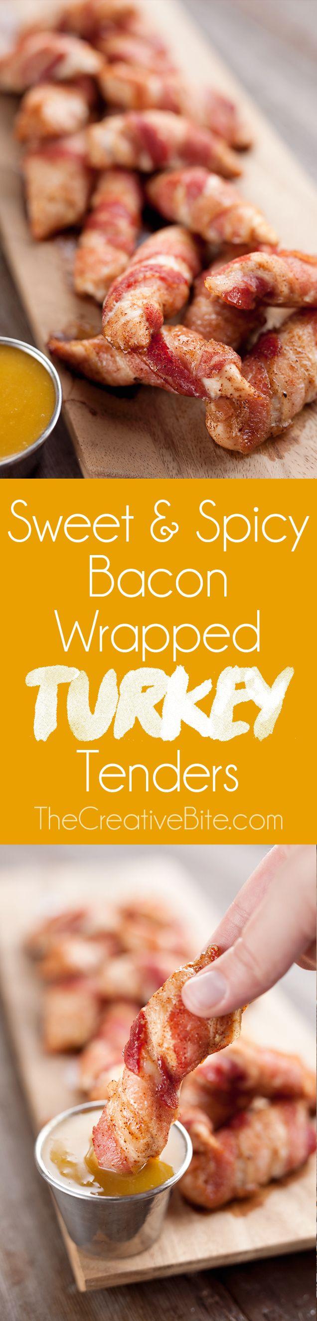 Sweet & Spicy Bacon Wrapped Turkey Tenders