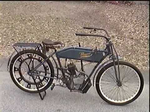 Antique Motorcycle 1916 Miami Power Bicycle AMCA .... Watch the video