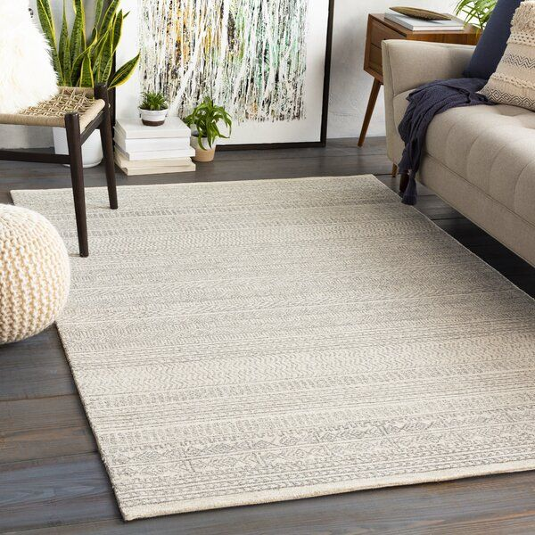 Shiloh Handmade Tufted Wool Gray Cream Rug Reviews Joss Main In 2020 Area Rugs Rugs Hand Tufted Rugs