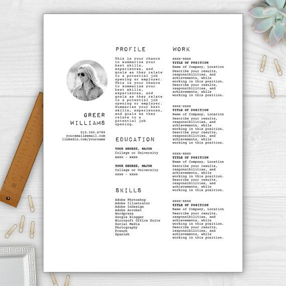 Free cv template word 25 pinterest resume template with photo cv template resume template word resume design free yelopaper