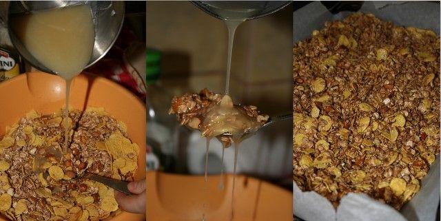 Granola este o combinatie de cereale, seminte si fructe uscate coapte. Diferenta dintre granola si muesli este faptul ca in muesli, ingredientele nu sunt coapte. Am descoperit retete de granola in mai multe locuri pe internet si m-am hotarat sa incerc propria mea reteta. Am obtinut o minunata combinatie de cereale care e, cu...Read More »