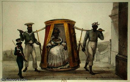 Transporting a White Child to be Baptised by Jean Baptiste Debret (1768-1848, France)