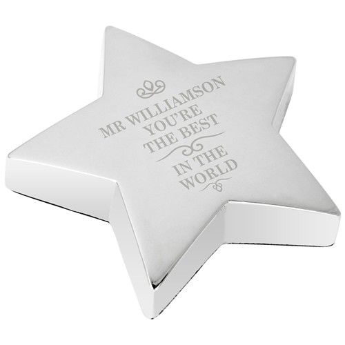 Engraved The Best in the World Star Paperweight  from Personalised Gifts Shop - ONLY £19.99