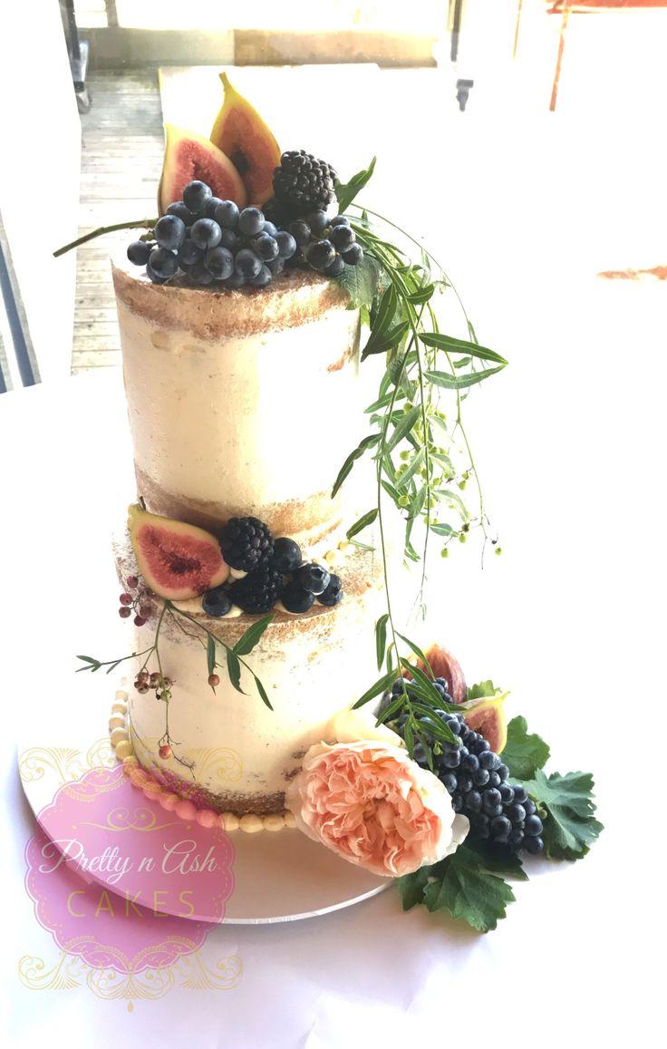Seminaked Wedding Cake with fresh figs and grapes #prettynashcakes #melbournecakes #melbournecakedecorator #melbourneweddings #melbourneweddingcakes #acdnmember #wedding #dreamwedding #melbourneweddingday  #weddinginspiration #weddingideas #weddingday #weddingphotography #weddingdress #engaged #melbournebride  #bridesmaids #beautiful #amazing #stunning #bridalblog #bridalblogger #instawed