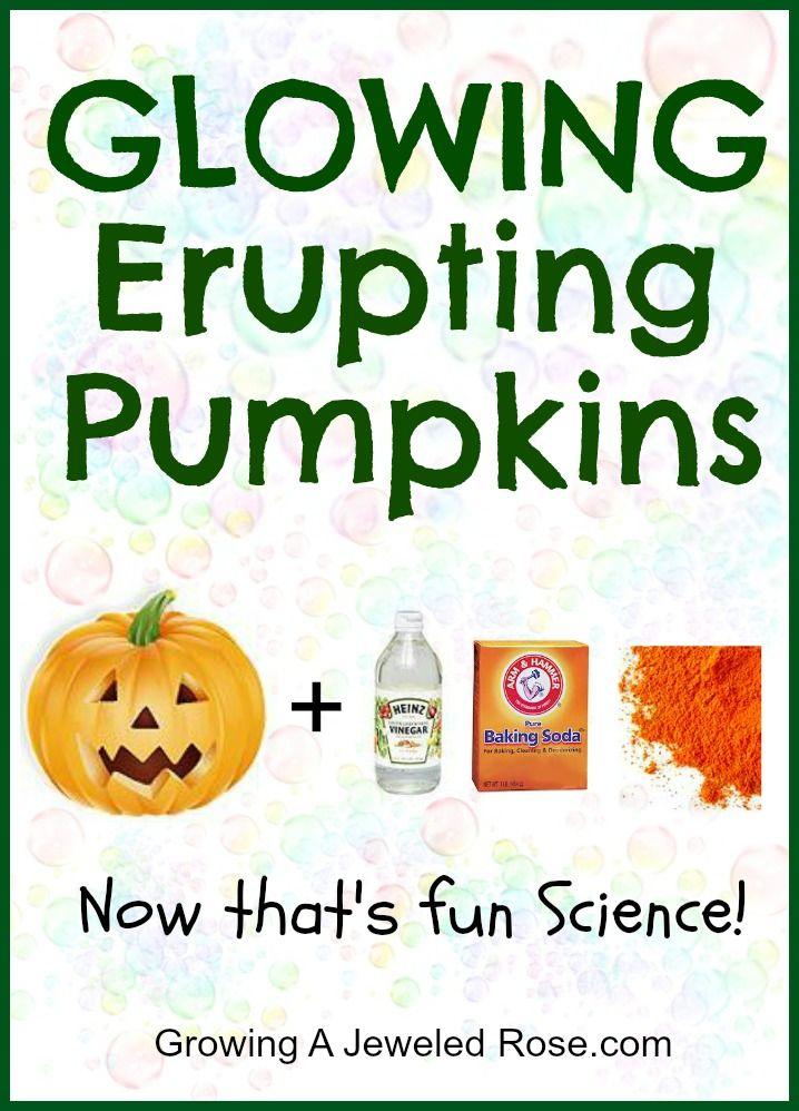 GLOWING pumpkin eruptions!: Idea, Glowing Erupting, Halloween Fun, Pumpkins Halloween, Erupting Pumpkins, Pumpkin Eruption, Kid