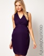 Enlarge ASOS Maternity Exclusive Tulip Dress With Pleated Neckline