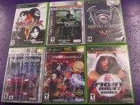 6 games for Original Xbox Fight Night Round 2 Mechassault Mortal Komba