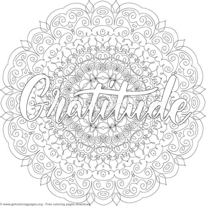 Gratitude Mandala Coloring Pages Getcoloringpages Org Coloring