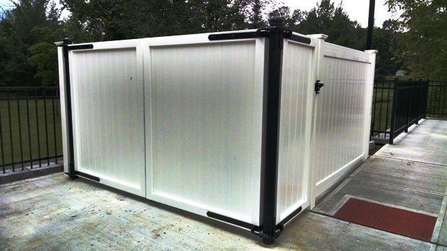 PVC Dumpster Enclosure | VINYL FENCE | Pinterest