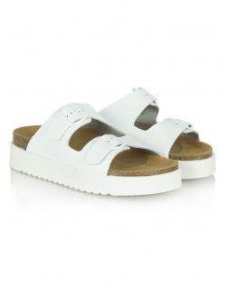 Daniel Footwear White Hyde Park Wedge Sandal