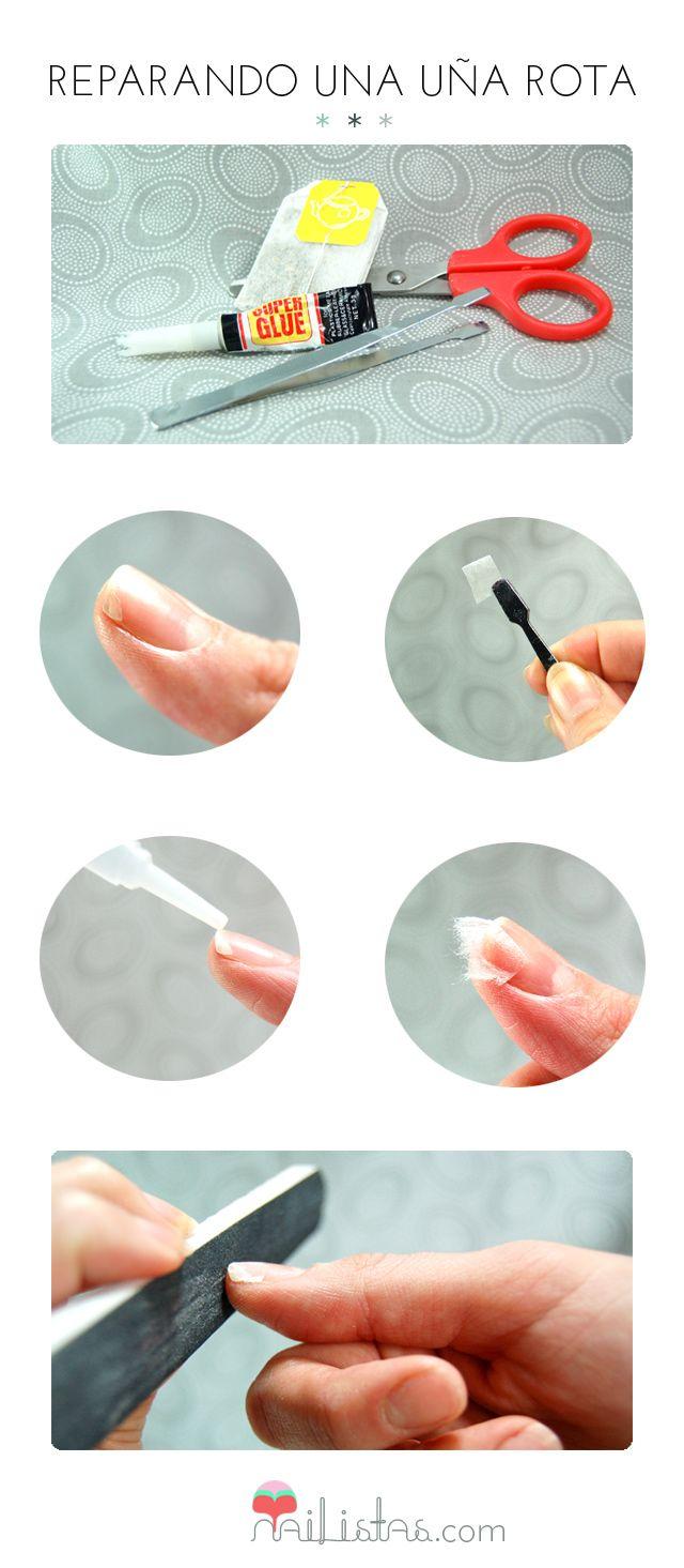 How to repair a broken nail // TIP //Truco para reparar una uña rota // Tutorial // DIY