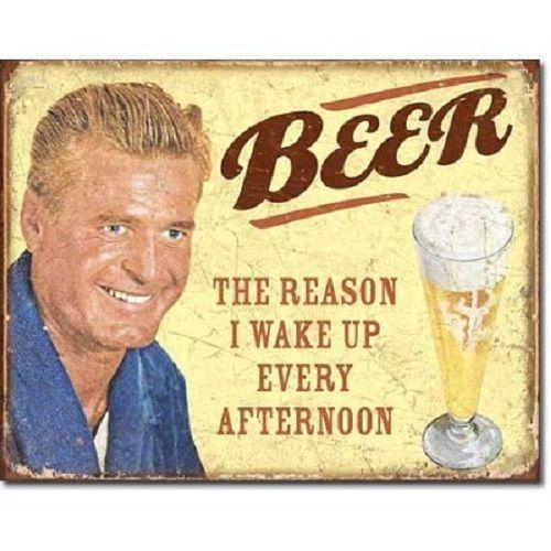 Beer Metal Tin Sign Distressed Retro Wall Art Funny Vintage Home Bar Pub Decor #Unbranded #Retro